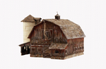 Woodlan Scenics WBR5038 HO Old Weathered Barn